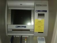 Geldautomat mit Warnhinweis: System nicht löchen!