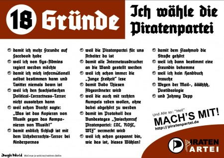 Fakeflyer Piraten
